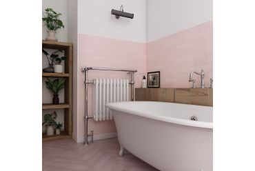 Pink arrow bathroom