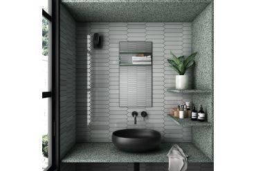Grey arrow bathroom