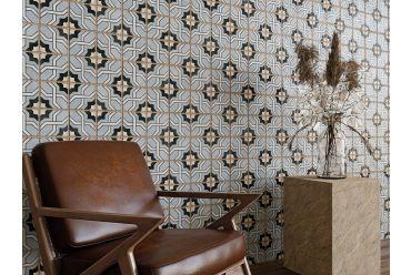 multicoloured attia square tile small living