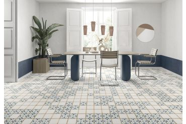 multicoloured kenzi square tile small dining