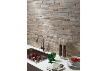 multi beige natural stone effect kitchen