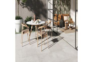 white grey stone square tile outdoor area
