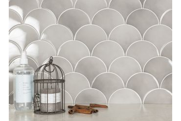 taupe small fan tile display
