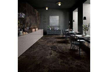 black brown marble effect large format porcelain restaurant