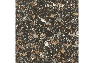 black terrazzo square tile
